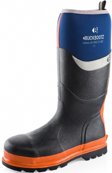 Buckler Buckbootz S5 Safety Rubber/Neoprene Wellington Boots BBZ6000 (Blue)